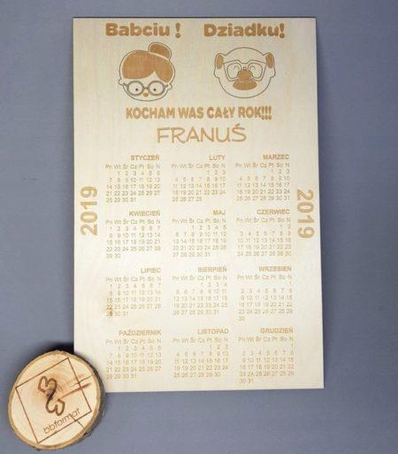 magnes - kalendarz dla babci idziadka