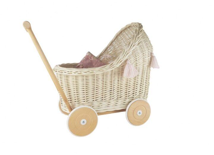 wiklinowy wózek dla lalek- prezent naroczek